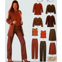 Misses Jacket Pants Skirt Blouse Wardrobe Simplicity Sewing Pattern #5921 Sizes  - $8.79