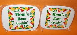 Novelty Inc Mom's Home Cookin' Mini Hot Pad Trivet Set 2 #927-528 UPC:71... - $7.92