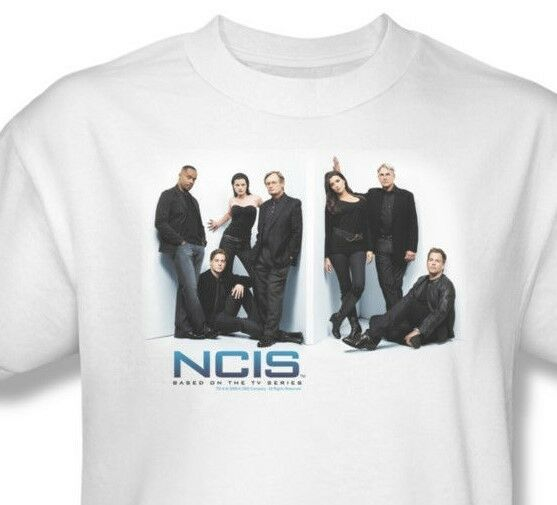 NCIS T-shirt Free Shipping CSI TV crime show 100% cotton white tee CBS494