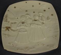 Mikasa Holiday Elegance FK001 Caroler Square Porcelain Decorative Plate - $9.97