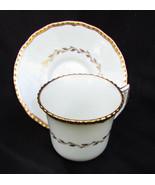 Royal Doulton cup saucer Belvedere demitasse V1877 small gold trim - $8.42