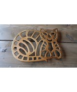 Vintage Brass Cat Trivet 7 x 5.25 inches - $29.69
