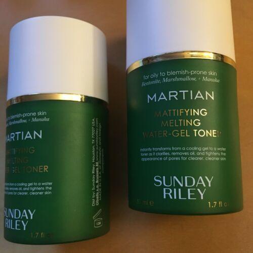 2x 1.7 oz Sunday Riley Martian Mattifying Toner  NWOB $50 Retail Value Oily Skin