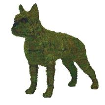 """Boston Terrier 23"""" Topiary Sculpture - Wire Frame, Moss Filled or Lighted - $85.16+"""