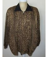 Carina Womens Animal Print Reversible Black Jacket Size 20 Zip Front & P... - $49.00