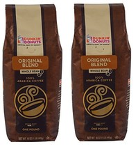Dunkin' Donuts Whole Bean Coffee 2 Pack, Original Blend - $27.20
