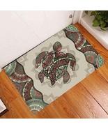 Turtle Mandala Doormat, Sea Life Lover Mat, Housewarming Entrance Door Mat - $29.65+