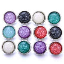 10pcs/lot Tree Life Glass 12mm Snap Button Jewelry Fit Snap Bracelet Ear... - $7.91