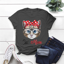 Cat Mom Wears Bandana For Women T- Shirt Birthday Funny Ideas Gift Vintage - $15.99+