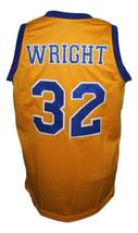 Monica Wright #32 Crenshaw Love And Basketball Jersey New Sewn Yellow Any Size image 2