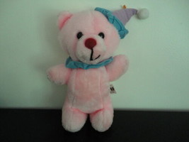 Vintage Ganz Bros Toys Toronto PINK CLOWN BEAR Plush 12 inch Stuffed Toy - $57.83