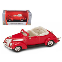 1937 Ford V8 Convertible Red 1/43 Diecast Car by Road Signature 94230r - $19.14