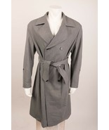 Zara Men's Trench Coat Double-Breasted Small Gray Belted 1564/611 New w/... - $158.39