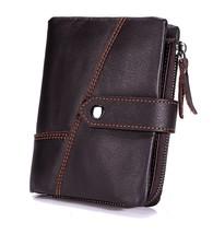 RFID Blocking Genuine Leather Wallet Card Holder for Men - $17.17