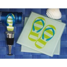 Murano Collection Flip Flop Design Coaster and Bottle Stopper Set - 72 Sets - $427.95