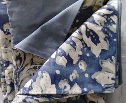 Pottery Barn Julia Duvet Cover Set Blue King Two Standard Shams Floral Rare - $158.00