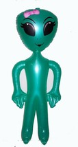 LARGE GREEN 63 INCH INFLATABLE BLOWUP GIRL ALIEN women inflate blow up l... - $8.98