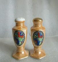Antique ART DECO HAND PAINTED Salt Pepper Shakers NORITAKE Luster Ware c... - $14.80