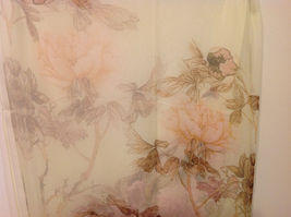 Peony Sheer Fabric Scarf, pastel colors of your choice image 7