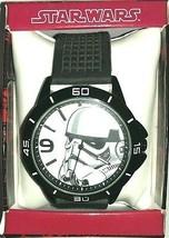 Disney Star Wars Storm Trooper Analog Quartz Watch w/Rubber Strap Black/White - £22.57 GBP