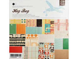 BasicGrey Hey Boy Paper Pad, 6x6 Inches #BBA-4035