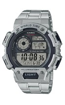 Casio New Men's Metal Band World Time 5 Alarms Chrono Sports Watch AE140... - $28.70