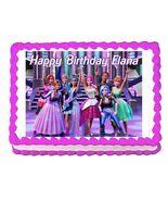 Barbie Rock'n Royals Edible Cake Image Cake Topper - $8.98+