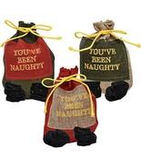 Funny Christmas Naughty Coal Santa Sack Bag Stocking Stuffer Gag Plastic... - $19.97