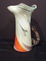 Stunning Multicolored Swirl Art Glass Piture/Carafe  - $34.90