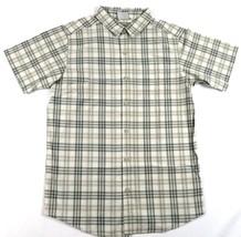 Small Men's Shirt Columbia SS Thompson Hill Yarn Dye Woven Cypress Plaid