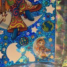 "VINTAGE *JUMBO* 8"" x 11"" Moon Star Girl Hippie Sticker Sheet RARE HTF PRISM image 3"