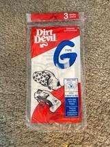 GENUINE DIRT DEVIL TYPE G 3 BAGS IN PACK VACUUM CLEANER BAGS - $6.39