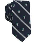 Bar III Navy Mint Julep Conversational Skinny Tie Mens New  - $19.60
