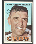 Chicago Cubs Curt Simmons 1967 Topps Baseball Card #39 ex - $2.25