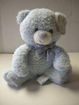 "Bear, ""My First Teddy,"" Stuffed By First & Main, 7"", Blue, Boy, Brand New - $6.99"