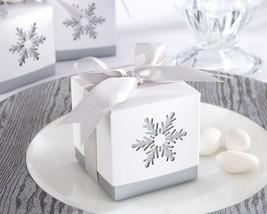 """Winter Dreams"" Laser-Cut Snowflake Favor Box (Set of 24) - $18.78"