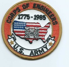 US Army Corps of Engineers 1775 - 1985 Patch 3 in dia  #494 - $9.01