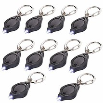 10 Pack Mini LED Flashlight Keychain Ultra Bright Key Ring Light (Black 2) - $16.08