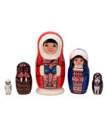 """Native Alaskan Couple Fuzzy Nesting Doll - 5"""" w/ 5 Pieces - $40.00"""