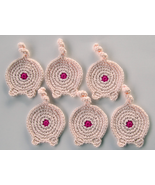 Piggy Butt Coasters, Set of 6, Cotton, Piggy Pink - $36.83 CAD