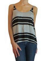 Poof Juniors Heather Grey and Black Striped Tan... - $16.99