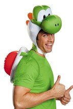 ADULT SUPER MARIO BROS OFFICIAL YOSHI COSTUME KIT HEADPEICE & SHELL DG85... - €21,03 EUR