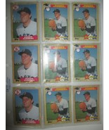 LOT 9  TOPPS 1987 ROGER CLEMENS BOSTON RED SOX  ALL STAR BASEBALL CARDS ... - $4.94