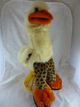 Goose Puppet 22 inches tall Plush yellow pile Lucy's Toys Hand & Arm puppet - $19.79