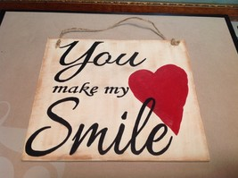 Elf Works Lane Satellite Workshop Custom Sign You Make My Heart Smile