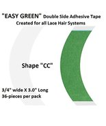 Easy Green Hair System Tape Shape CC 1-pack = 36 pieces - $8.66