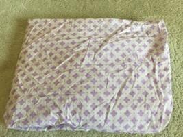 Circo Girls Purple White Baby Toddler Fitted Crib Sheet  - $9.28