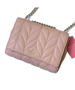Kate Spade Mini Emelyn Crossbody Rosy Cheeks Quilted Leather Bag Briar L... - $130.45