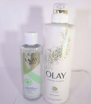 Olay Cleansing & Firming Bodywash 17.9 oz & Calming Cleansing Water 8oz 12-O - $20.79