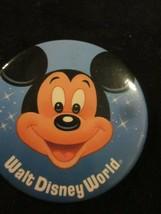 Wdw Vintage Walt Disney World Mickey Mouse Pinback Pin Button New - $6.99